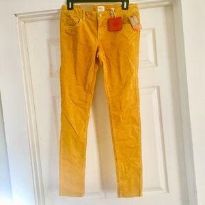 Mossimo Gold Mustard Yellow Corduroy Skinny Pants